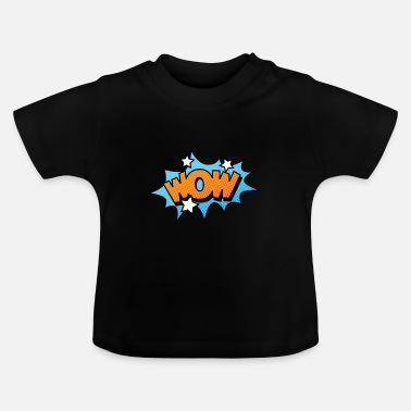 Explosion Comic Comic Comic Strip WOW - T-shirt Bébé