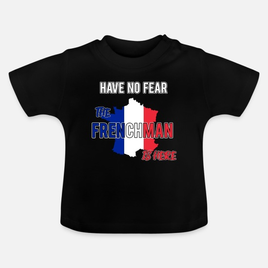 French Baby Clothes - france french frenchman - Baby T-Shirt black