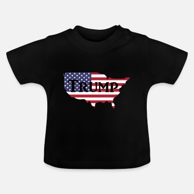 Gevangenis Donald Trump USA Map - Baby T-shirt