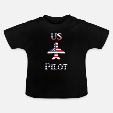 Us US Pilot in US Flag - Baby T-Shirt