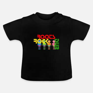 ROOTS ROCK DUB, reggae, dubstep - T-shirt Bébé