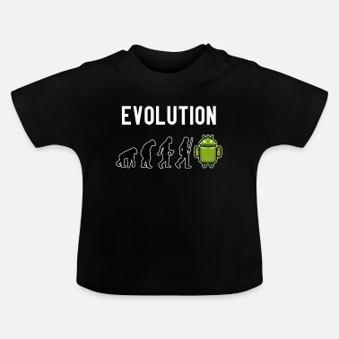Text Evolution Robot Space Sci-Fi Presentspelare - T-shirt baby