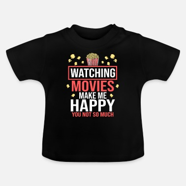 Cinema Movie Movies Cinema Cinema Popcorn Cinema Shows - Baby T-Shirt
