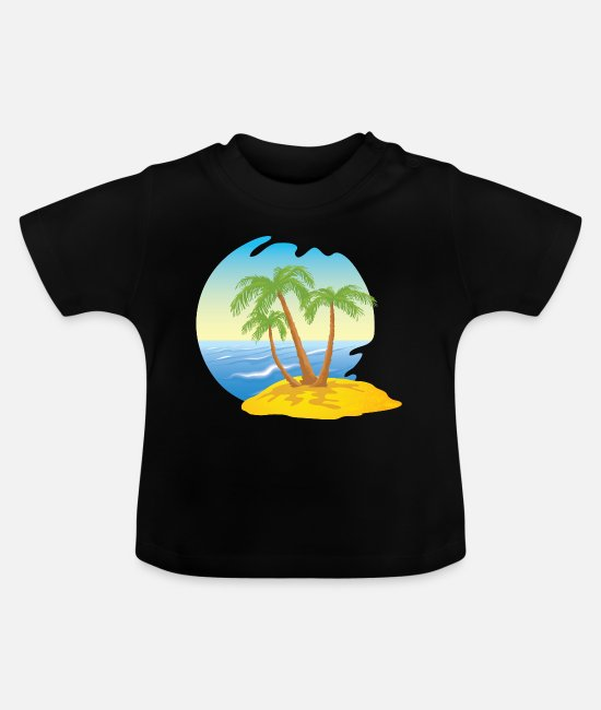 Meer Baby T-Shirts - Insel - Baby T-Shirt Schwarz