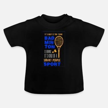 Fan Fan de badminton fan de badminton - T-shirt Bébé