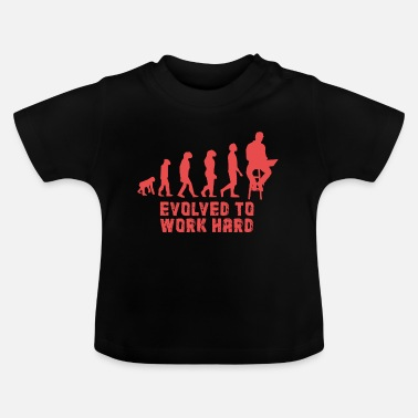 Ancestry Workaholic. Evolution. Monkey. ancestry - Baby T-Shirt