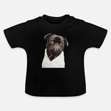 Djur Pug illustration hund sällskapsdjur boobs djur pug - T-shirt baby