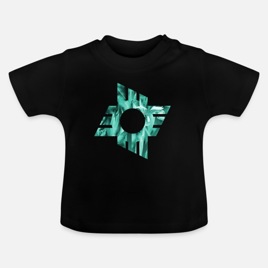 Grafisk Babytøj - design - Baby T-shirt sort