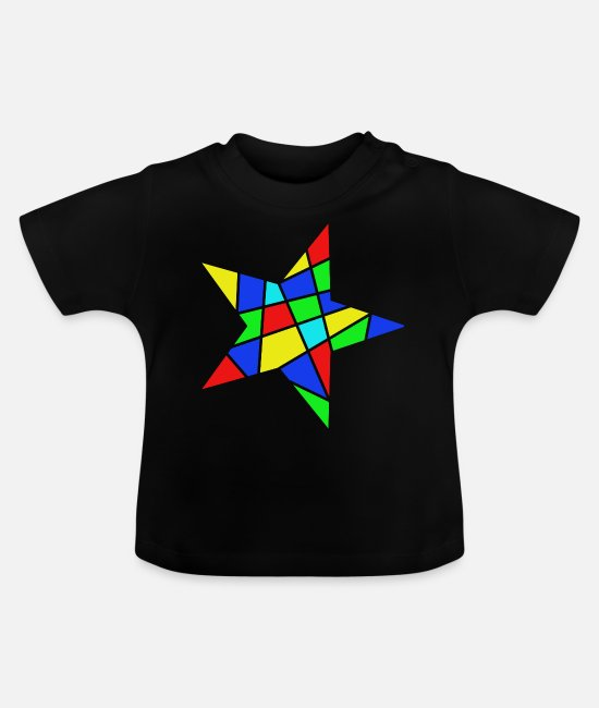 Starry Sky Baby Clothes - star - Baby T-Shirt black