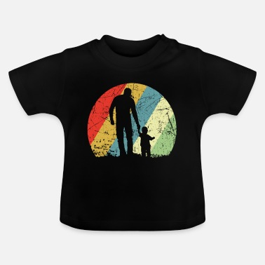 Zoon Vader en zoon vintage retro - Baby T-shirt