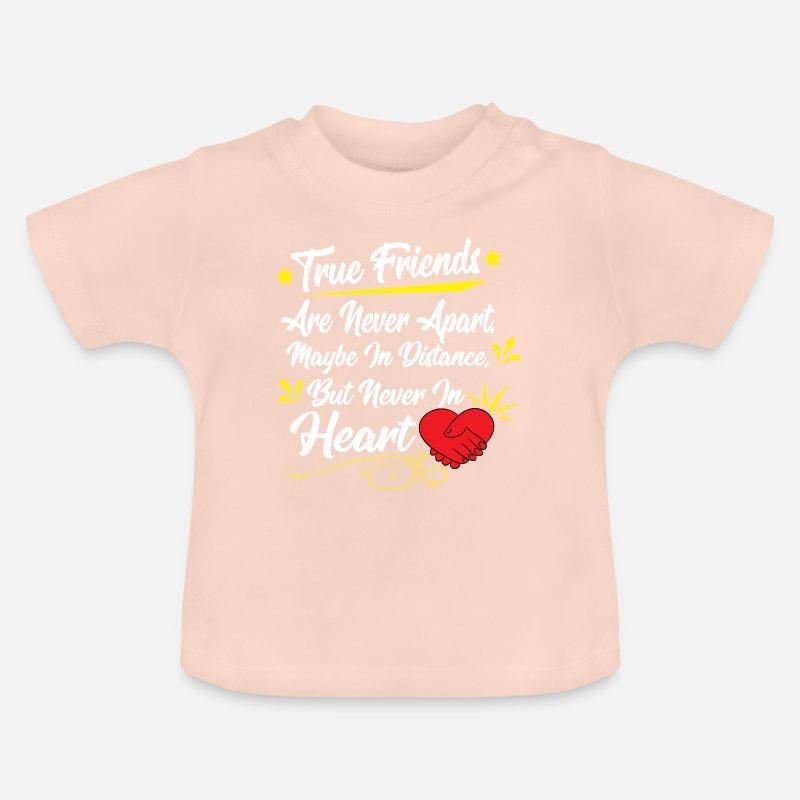 Freunde Freundschaft Gedicht Reim Geschenk Idee Baby T Shirt Kristallrosa