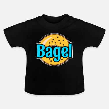 Baked Goods Bagel bakery baking goods baking pastry food - Baby T-Shirt