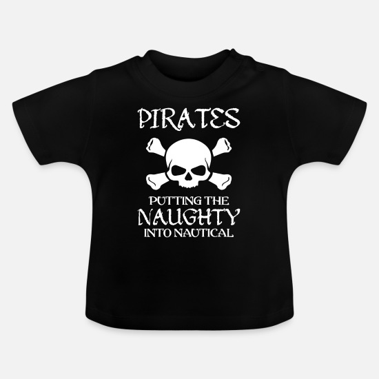 Pirate Skull Baby Clothes - Pirate head pirate skull - Baby T-Shirt black
