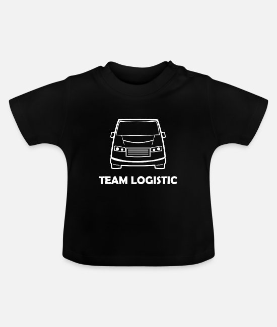 Pilot Baby T-Shirts - Logistics team work - Baby T-Shirt black