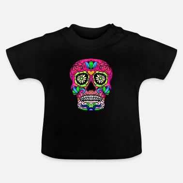 Skull Candy Skull Red - Baby T-Shirt