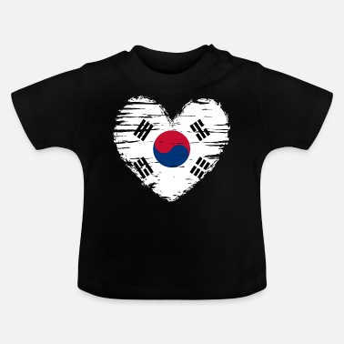 South Korea heart flag flag coat - Baby T-Shirt
