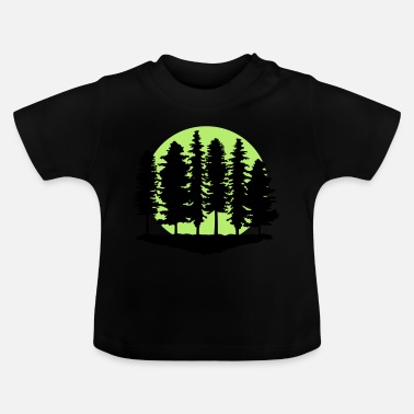 Change Forest and Full Moon, Trees - Baby T-Shirt