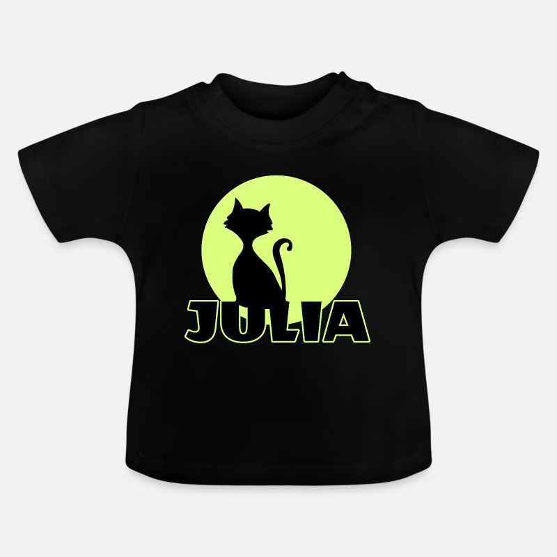 Julia Baby Clothing - Julia Name day first name personal gift - Baby T-Shirt black