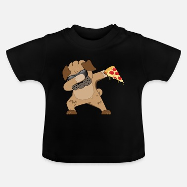 Hond Dog Dab - Pizza - Eten - Fastfood - Baby T-shirt
