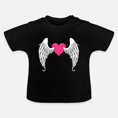 Angels And Rebels Angel Wings Feather Heart - Baby T-Shirt