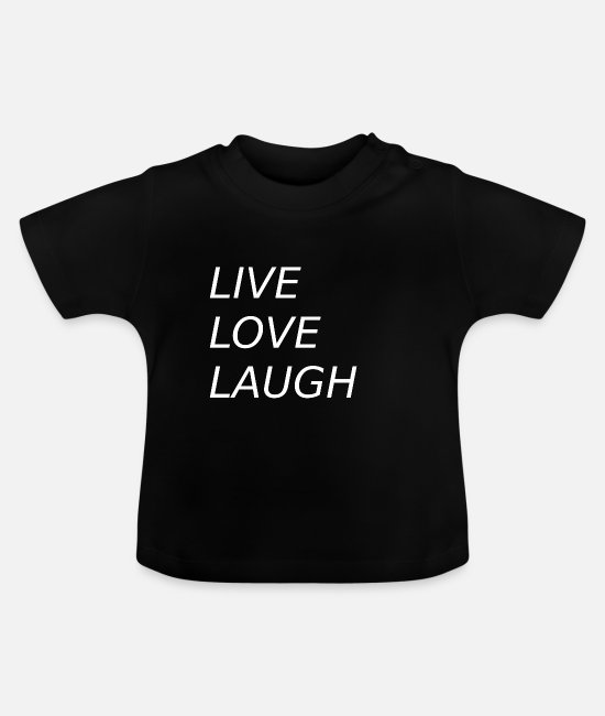 Hodetelefoner Baby T-Shirts - LIVE LOVE LAUGH capital letters italics joy - Baby T-Shirt black