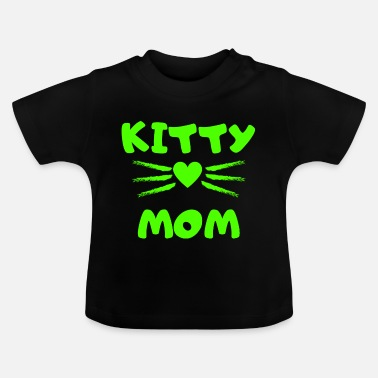 Kätzchen Schnuckibaby Kitty Mom Heart Kitten Katze Cats - Baby T-Shirt