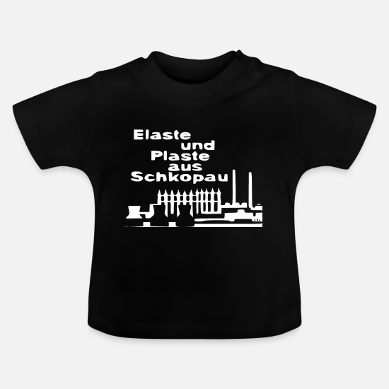 Gdr Baby Clothes - Elaste and plastic from Schkopau - Baby T-Shirt black
