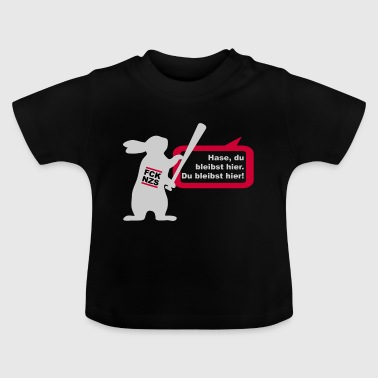 Fuck Nazis (Hase-Edition) - Baby T-Shirt