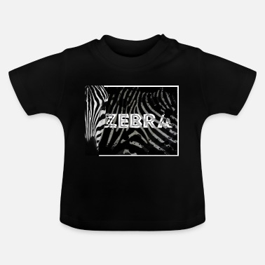 Tanzania Zebra Artwork - Baby T-Shirt