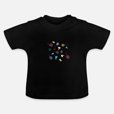 Racket Shuttlecocks met rackets. - Baby T-shirt