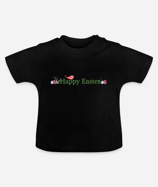 Easter Baby Clothes - Happy Easter - Baby T-Shirt black
