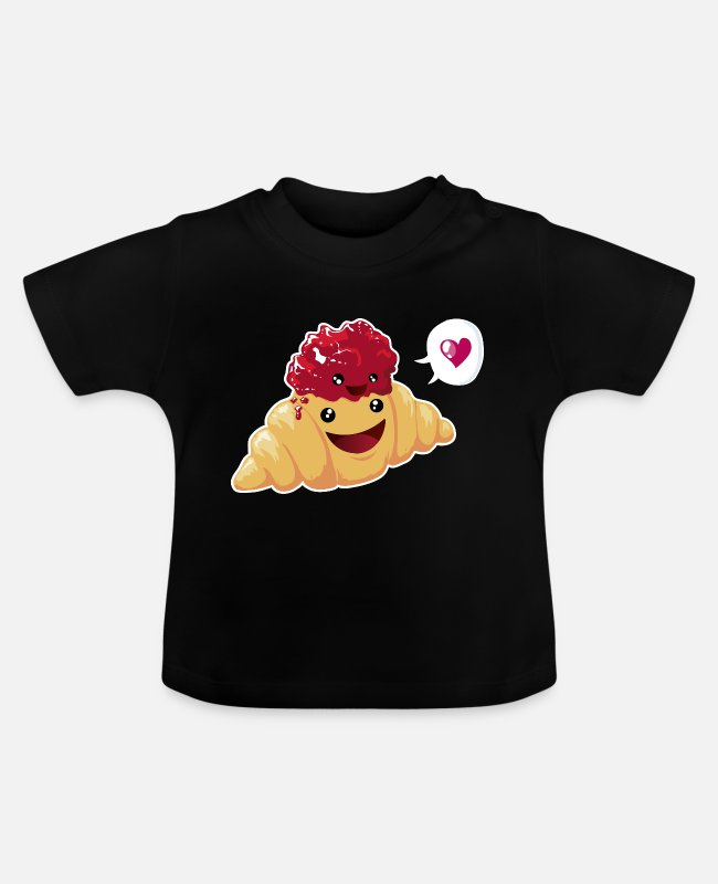 Office Baby T-Shirts - Croissant & Marmelade - Baby T-Shirt black