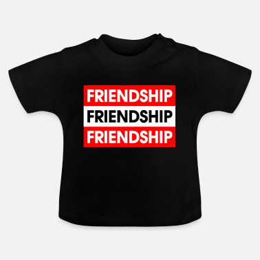 Rechthoek Frienship Red-White-Red - Baby T-shirt