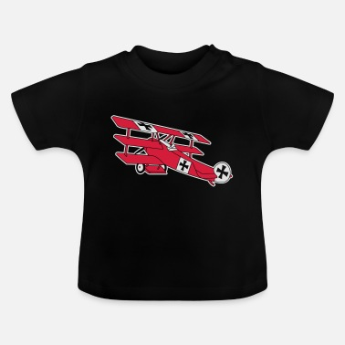 Fokker Airplane Flugzeug Roter Baron Red World War - T-shirt baby