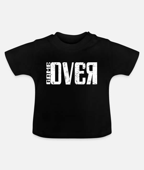 Pro Gamer Baby T-Shirts - Game over Gaming T-Shirt - Baby T-Shirt Schwarz