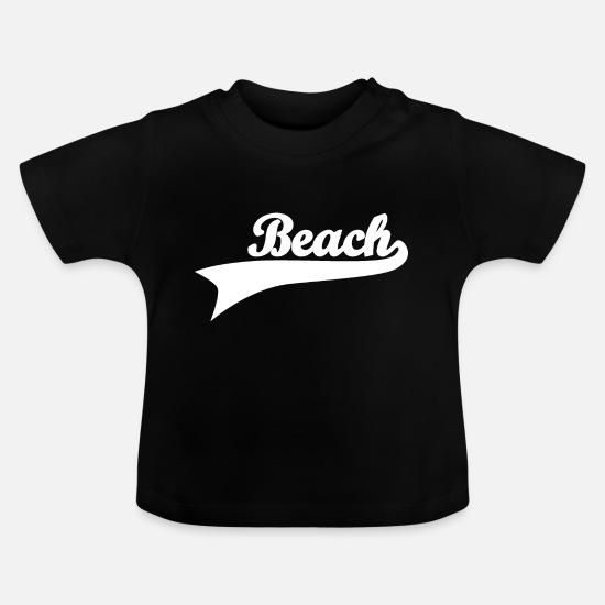 Journey Baby Clothes - Beach beach vacation sea shirt gift - Baby T-Shirt black