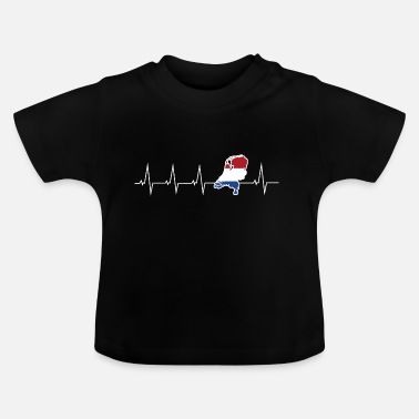 Holland Ik hou van Nederland - Holland - heartbeat - Baby T-shirt
