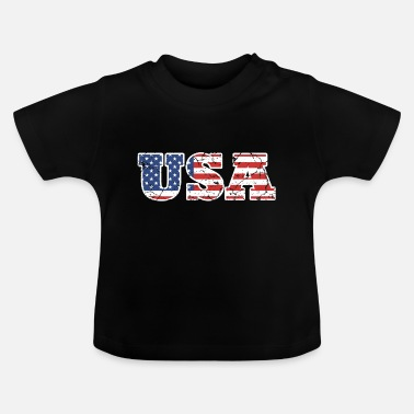 Usa USA flagga - T-shirt baby