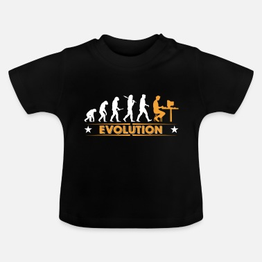 Computer Computer Nerd Evolution - orange/weiss - Baby T-shirt