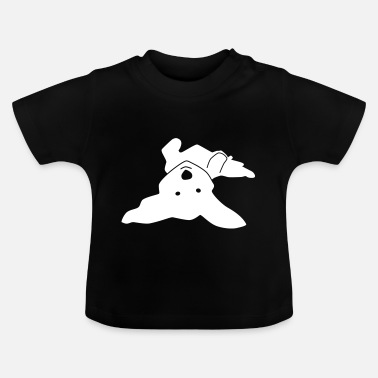 Havanese on his back - Baby T-Shirt