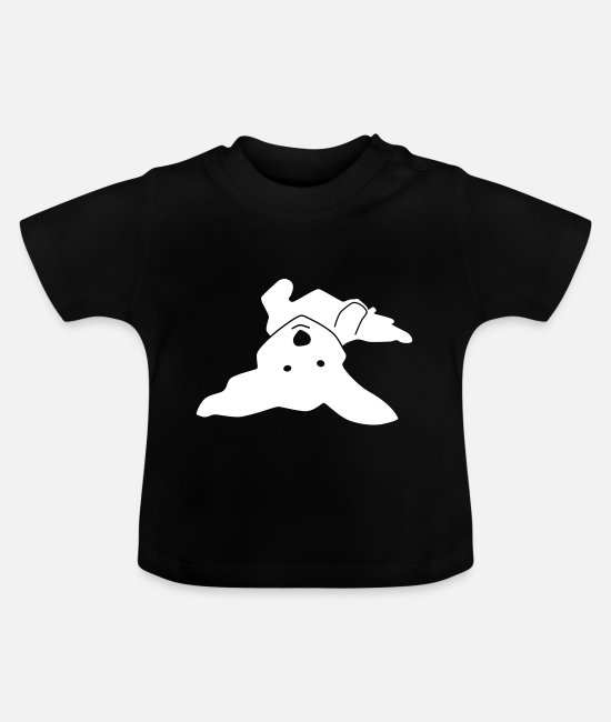 Doggie Baby T-Shirts - Havanese on his back - Baby T-Shirt black