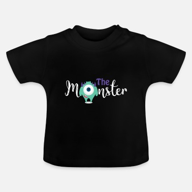 Eltern - Kind - Partnerlook - Monster Kind - Baby T-Shirt