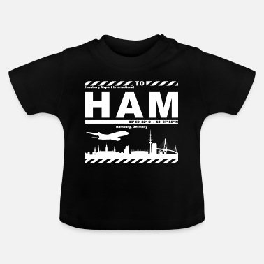 Logo Hamburg Airport HAM Supporter - Baby T-Shirt