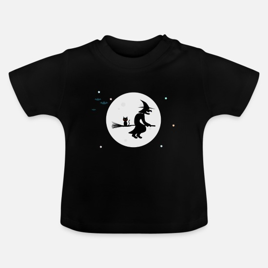 Halloween Baby Clothes - The Witch / The Witch - Baby T-Shirt black