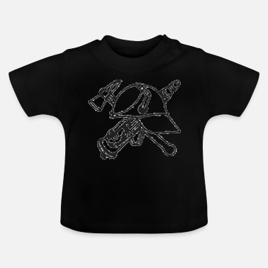 Axt Helm, Axt, Strahlrohr - Baby T-Shirt