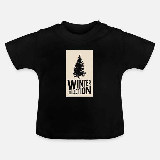 Christmas Present Baby Clothes - Winter Collection - Baby T-Shirt black