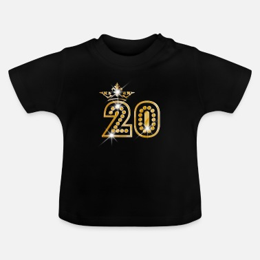 Burlesque 20 - Birthday - Queen - Gold - Burlesque - T-shirt baby