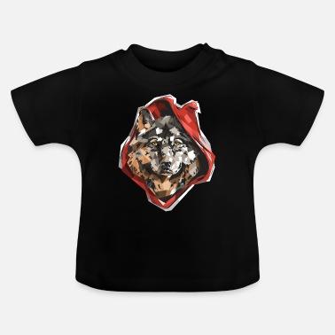 Animal Punainen Ridin Wolf Pun Graafinen muotoilu - Vauvan t-paita e0754a6a25