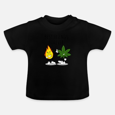 Smoke Weed Gift grass marijuana smoking Weed cannabis sex - Baby T-Shirt