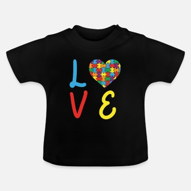 Concienciación Del Autismo Love Autism Autism Awareness Day - Camiseta bebé